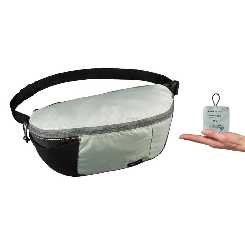 Bolsa de Cintura Compacta de Trekking Viagem Travel 2L - Verde