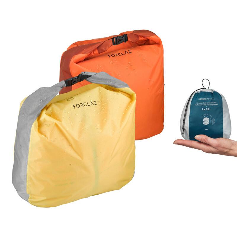 Trekking Half-Moon Waterproof Storage Bag 2-Pack - 2x15L