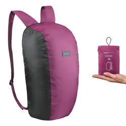 Compact 10 litre trekking travel rucksack TRAVEL 100 - Purple