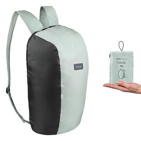 Mochila compacta 10 litros trekking viaje - TRAVEL 100 caqui