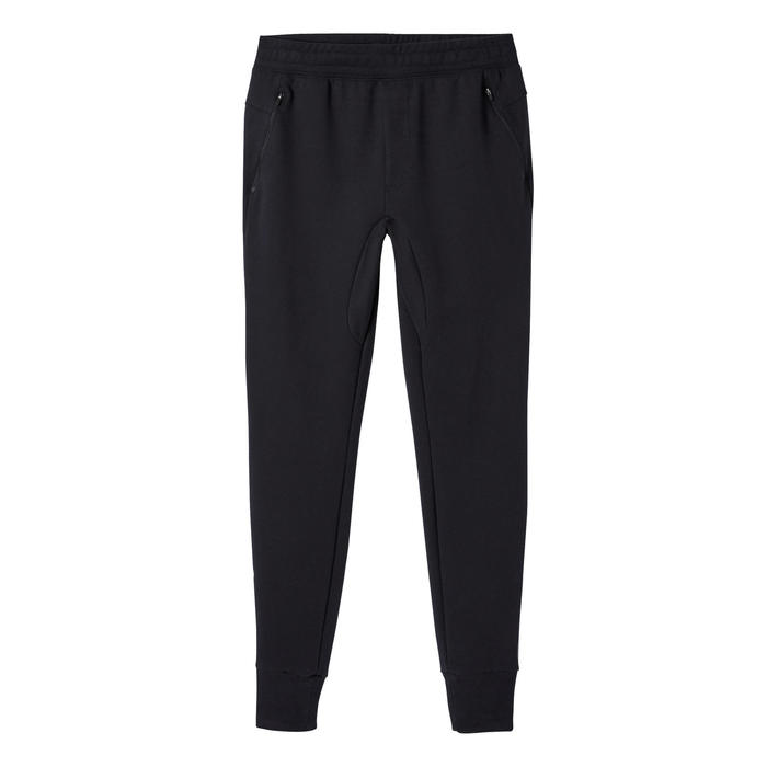 Joggingbroek 500 skinny fit zwart