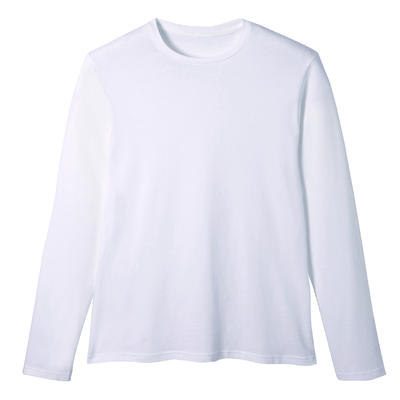 T-Shirt Manches Longues Coton Fitness Blanc