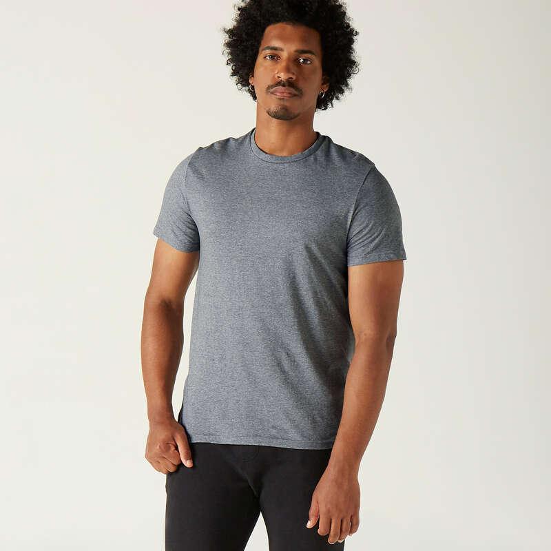 T-SHIRT SHORT DLA MĘŻCZYZN Fitness, siłownia - Koszulka 100 NYAMBA - Odzież i buty fitness