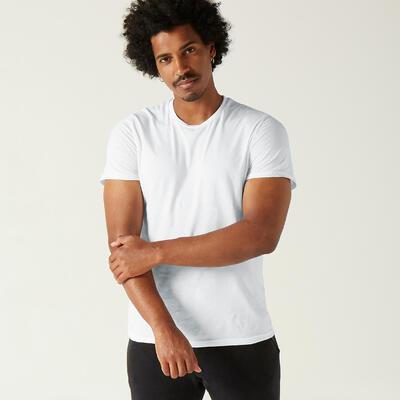 Camiseta 100% algodón Fitness Sportee Blanco