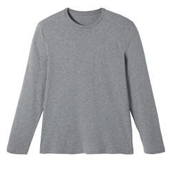 T-Shirt Manches Longues 100 Homme Gris Chiné
