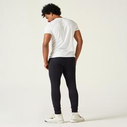 Pantalon jogging Fitness Skinny Bas resserré Noir