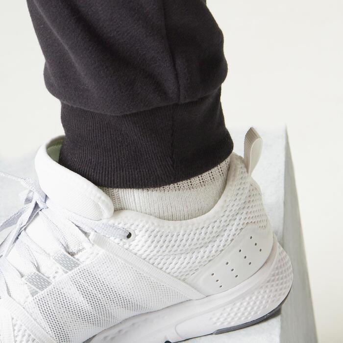 Pantalon jogging Molleton Fitness Slim Poches Zippées Noir