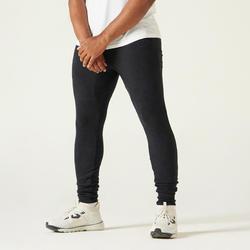 Jogginghose Skinny Fitness enger Beinabschluss Herren schwarz