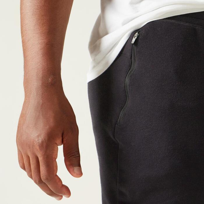 Joggingbroek voor heren 500 slim fit zwart