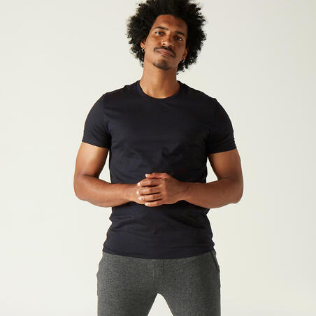 Playera 100% algodón Fitness Sportee negro