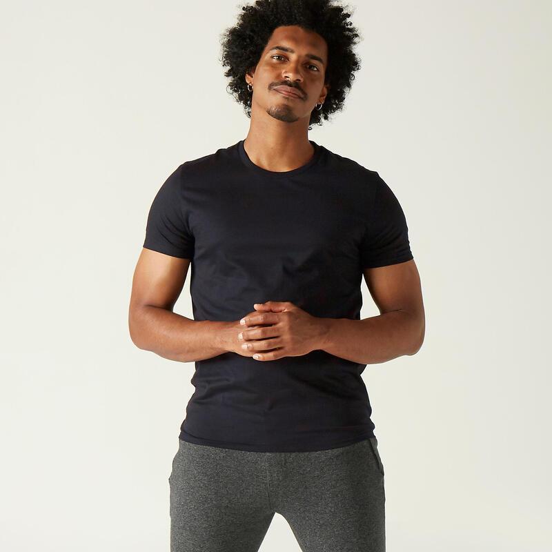 T-shirt uomo fitness SPORTEE 100 nera
