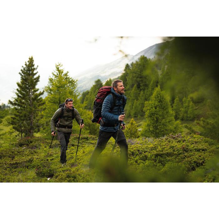 Men's Mountain Trekking Backpack Trek 100 Easyfit 70L - ochre