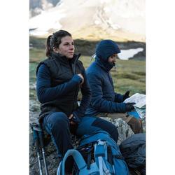 成人款登山健行防風手套Trek 900-灰色