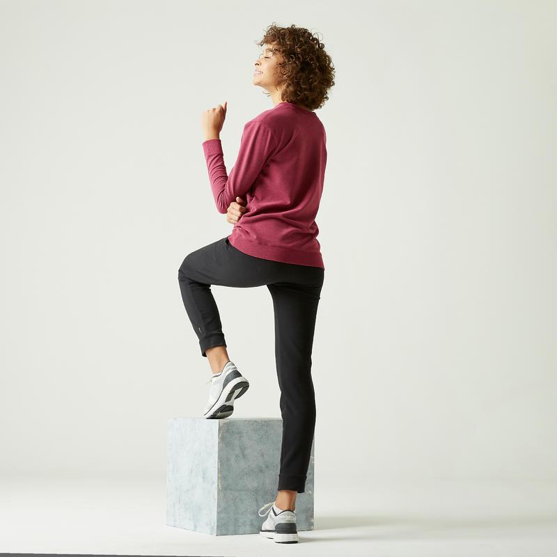 Sweat 100 Femme Violet avec Imprimé