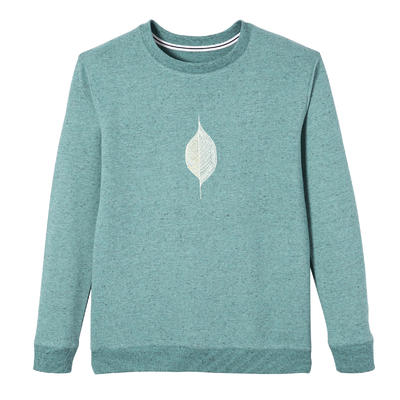 Women's Sweatshirt 100 - Green with Print