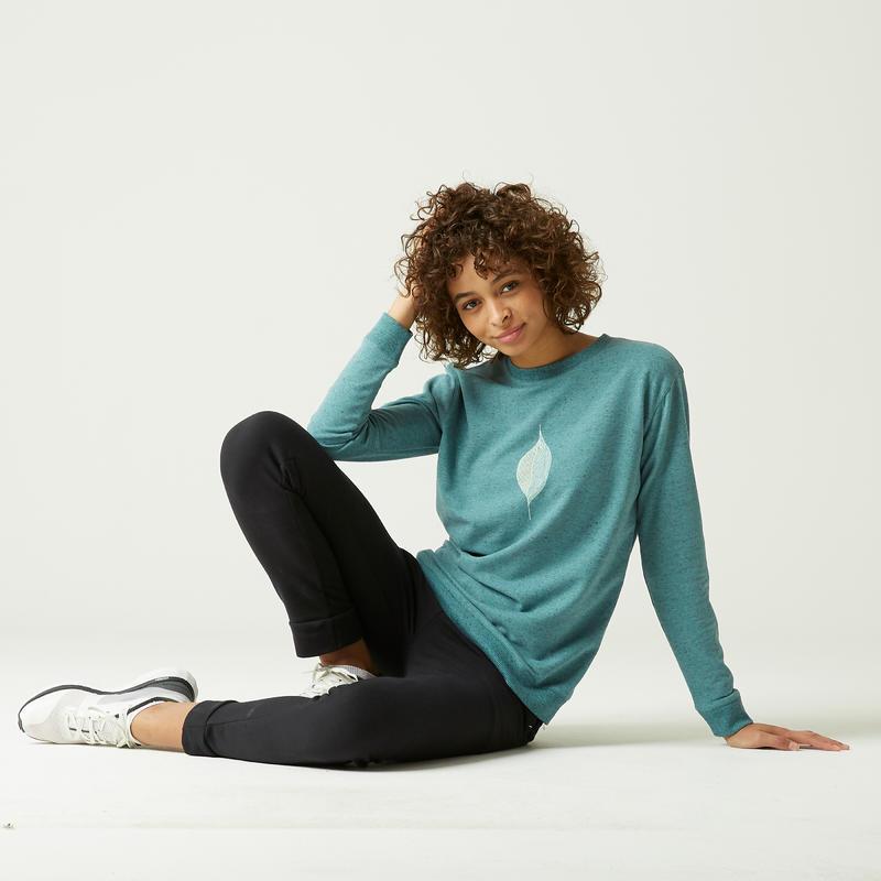 Sweat 100 Femme Vert avec Imprimé