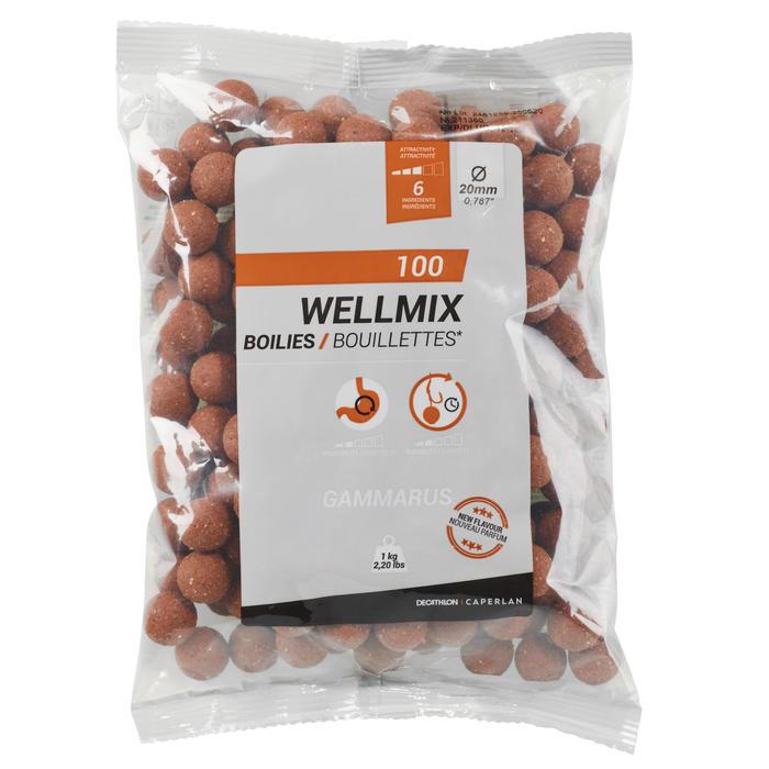 Boilies voor karpervissen Wellmix 20 mm vlokreeft 1 kg