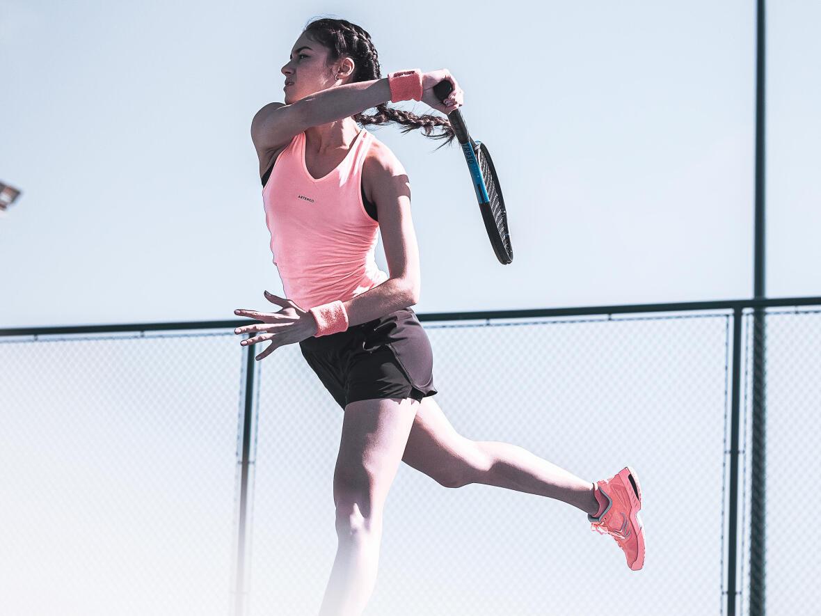 Technique Tennis : le coup droit long de ligne.