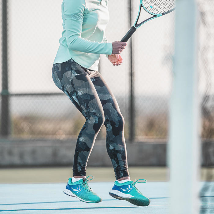 LEGGING DE TENNIS FEMME LEG TH 900 NOIR CAMO