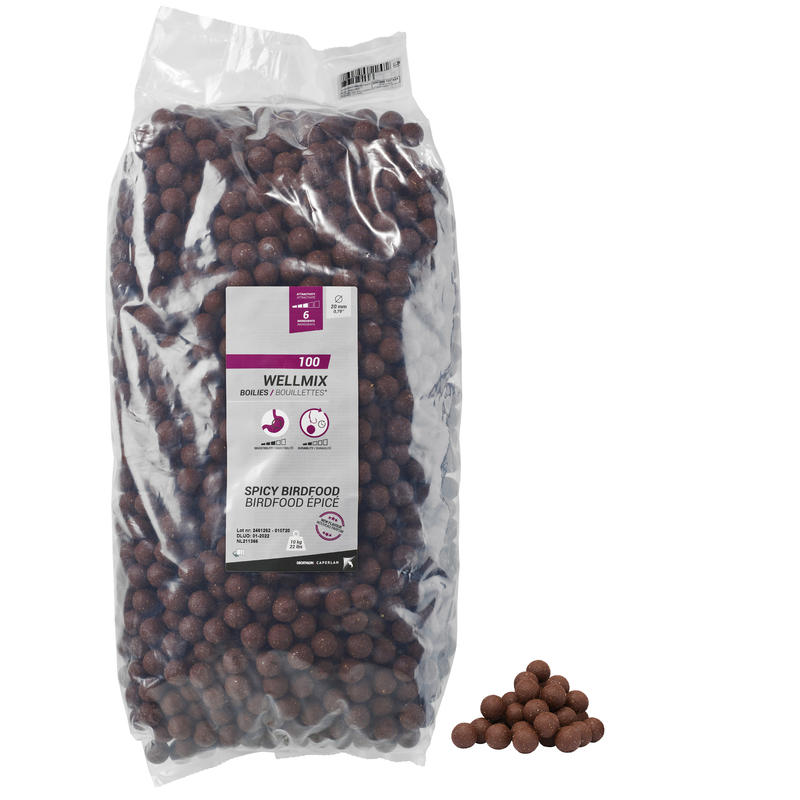 CARP FISHING BOILIE WELLMIX 20 MM 10 KG - SPICY BIRDFOOD