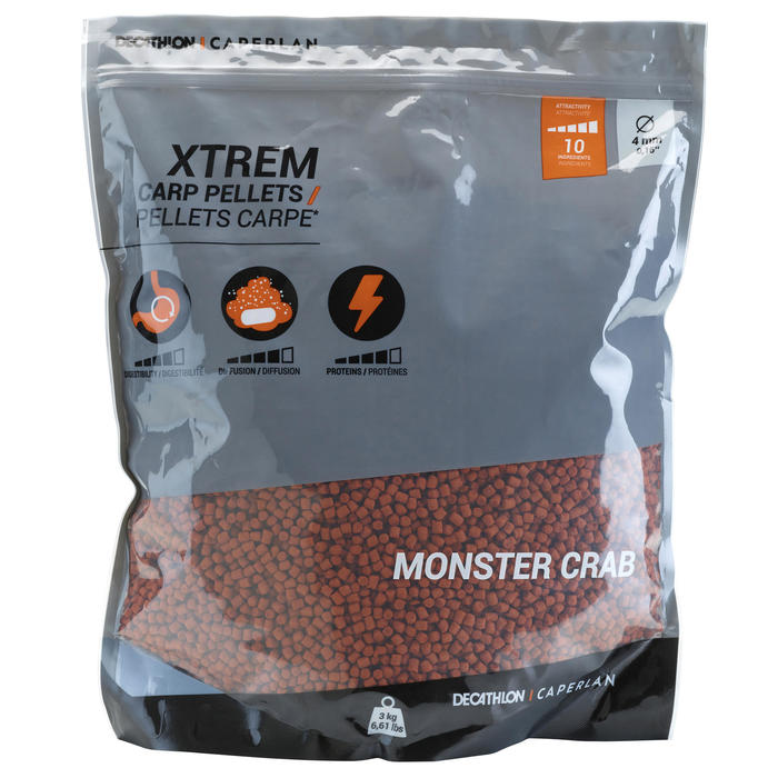 Pellets voor karper Xtrem Carp Pellets 3 kg 4 mm Monstercrab