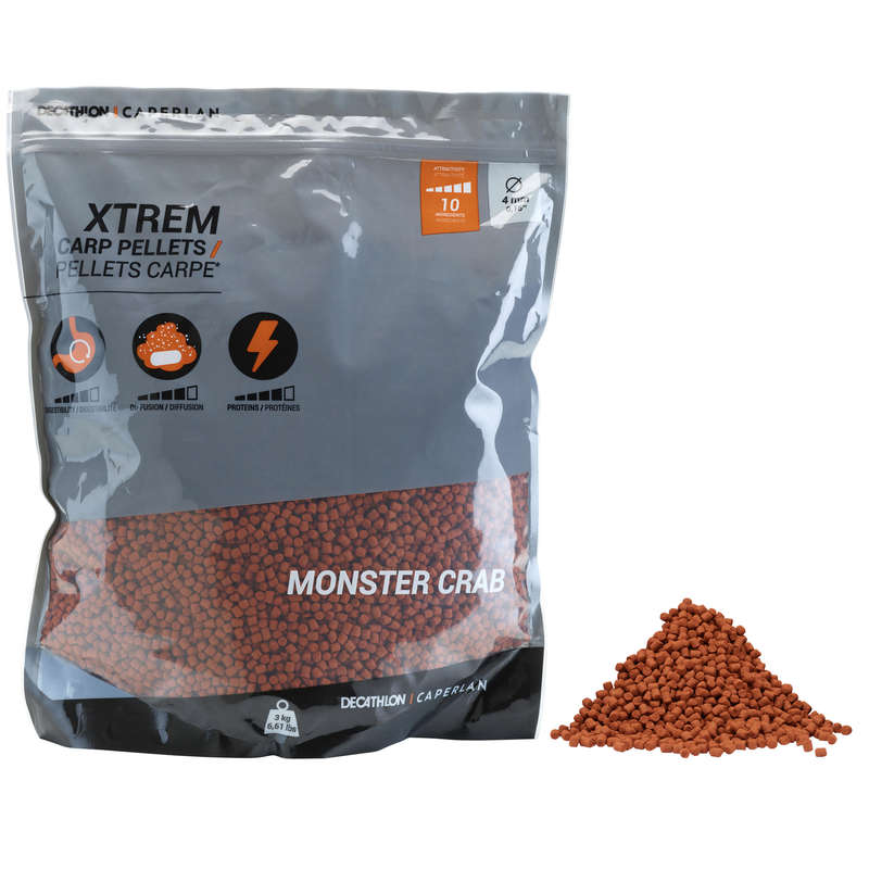 BOILIES, ESCHE CARPFISHING Pesca - Pellet XTREM 3kg monstercrab CAPERLAN - CARPFISHING