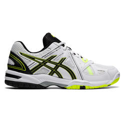 Chaussures de volley-ball Asics homme Gel Spike blanches, noires et jaunes