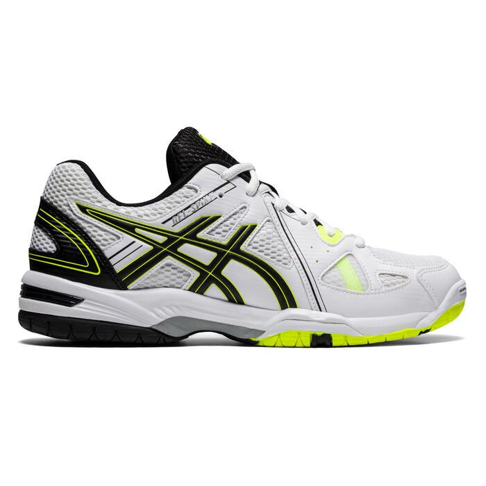 Chaussures de volley-ball Asics homme Gel Spike blanches, noires et jaunes