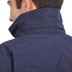 Blouson équitation homme imperméable bleu noir/bleu turquin.