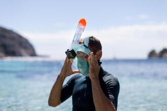 Como usar a fixação de câmara da máscara Easybreath ?