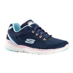 Chaussures marche sportive femme Skechers Flex Appeal bleu