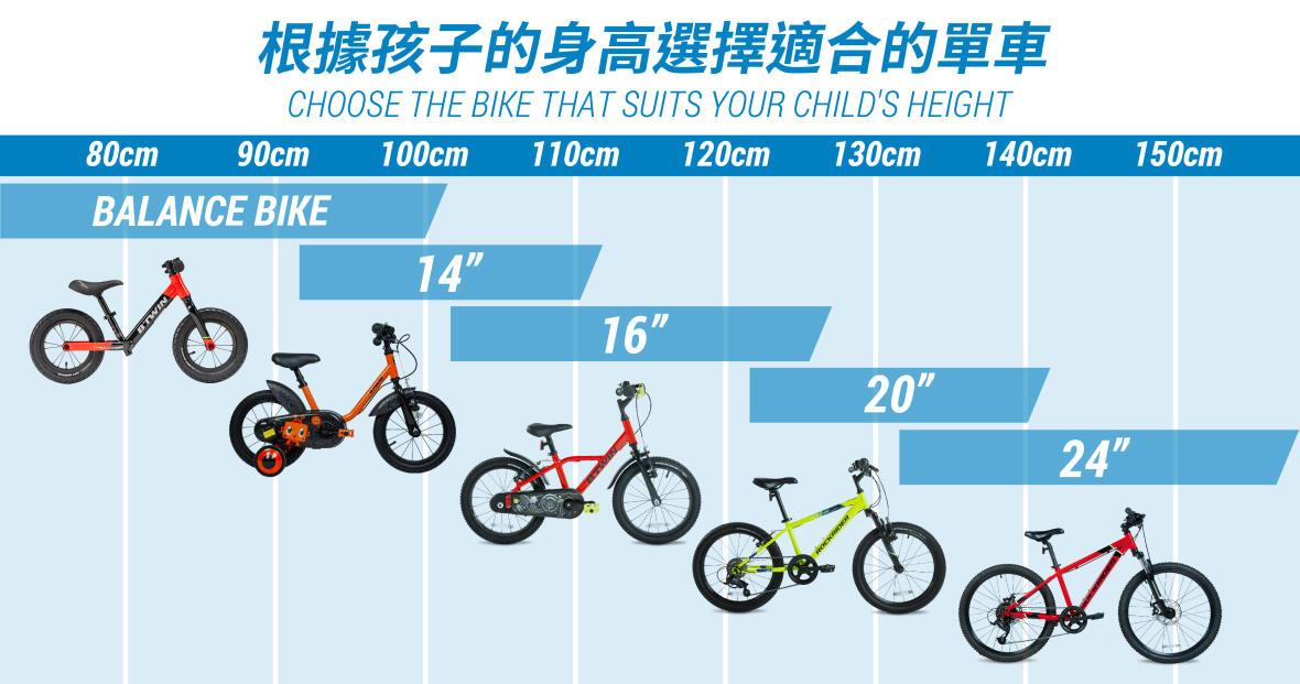 根據孩子的身高選擇適合的單車