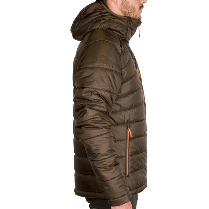gewatteerde jas voor de jacht 900 bruin.