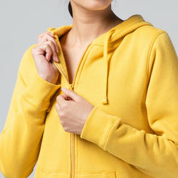 520 Women's Pilates & Gentle Gym Hooded Jacket - Yellow