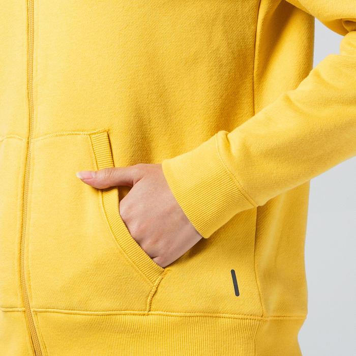 女款溫和健身與皮拉提斯連帽外套520 - 黃色