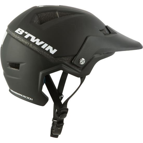 500 Mountain Bike Helmet Black Mountain Bike Road