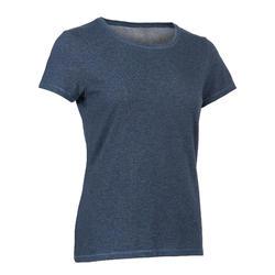 女款標準T恤500 - 藍色