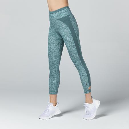 Women's 7/8 Leggings 510 - Green Pattern