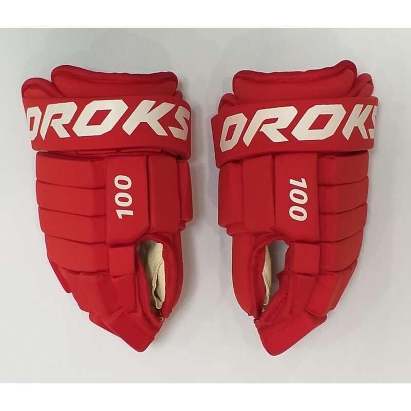 ВЗРОСЛАЯ ХОККЕЙНАЯ ЭКИПИРОВКА АРЕНА Хоккей - Перчатки для хоккея 100 OROKS - Экипировка