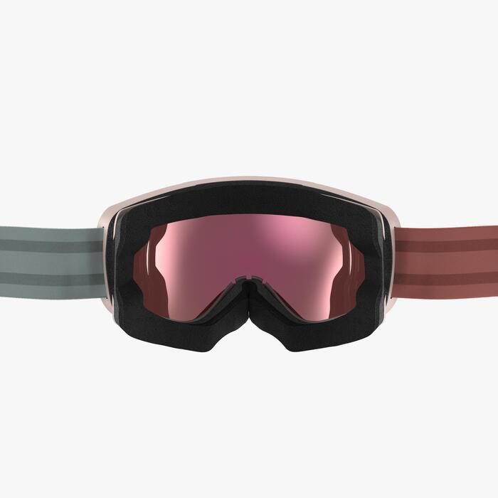 Skibrille Snowboardbrille G 900 Erwachsene/Kinder Schönwetter rosa