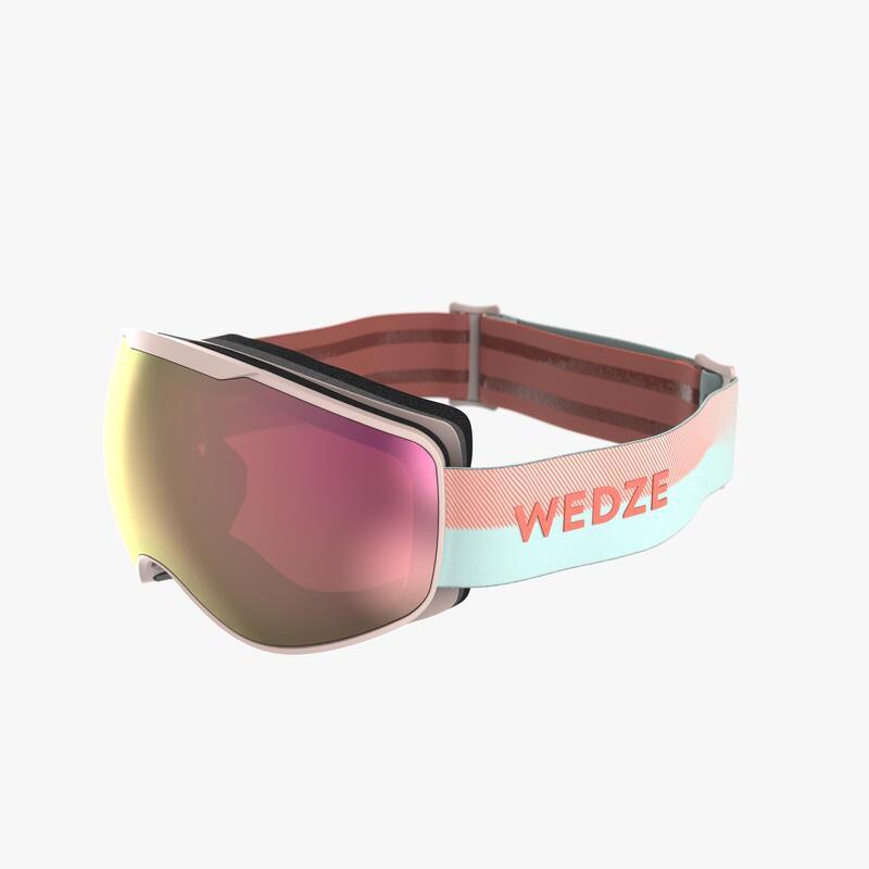 Ski- en snowboardbril voor kinderen en volwassenen G 900 mooi weer roze