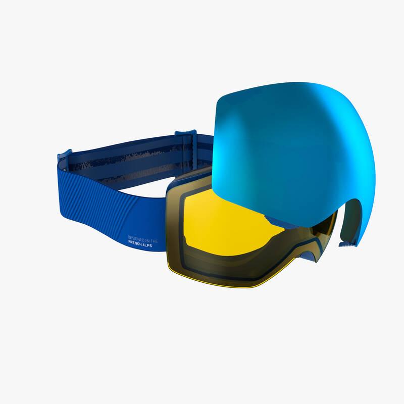 LYŽAŘSKÉ NEBO SNOWBOARD BRÝLE Snowboarding - BRÝLE G900 I MODRÉ  WEDZE - Ochranné prvky a příslušenství