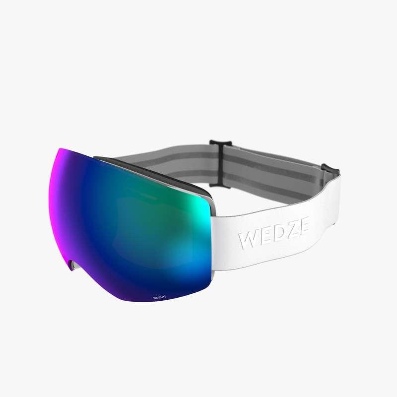 Măști schi/snowboard Schi si Snowboard - Ochelari Schi G900 I Alb  WED'ZE - Echipament pentru schi