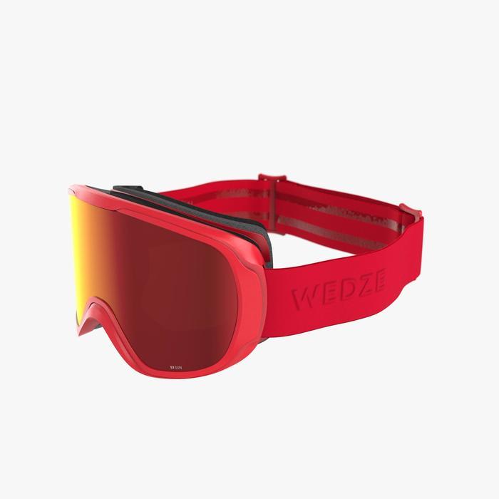 Skibrille Snowboardbrille G 500 I Allwetter Erwachsene/Kinder Rot