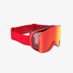 Ski- en snowboardbril voor volwassenen en kinderen G 500 I alle weertypes rood