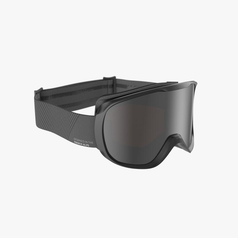 CHILDREN'S AND ADULT'S GOOD WEATHER SKIING AND SNOWBOARDING GOGGLES G500 BLACK
