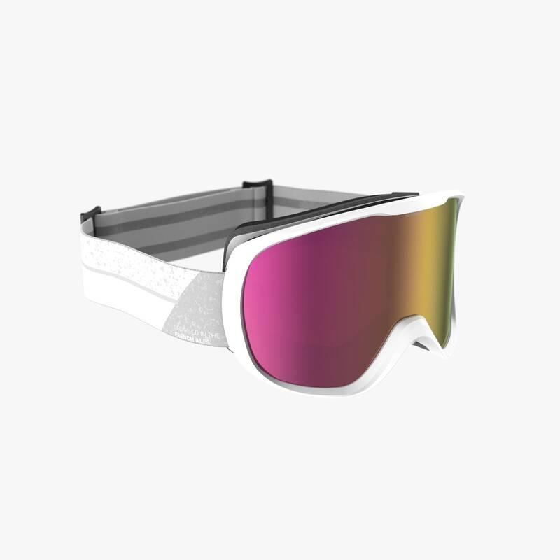 LYŽAŘSKÉ NEBO SNOWBOARD BRÝLE Snowboarding - LYŽAŘSKÉ BRÝLE G 500 PH BÍLÉ  WEDZE - Ochranné prvky a příslušenství