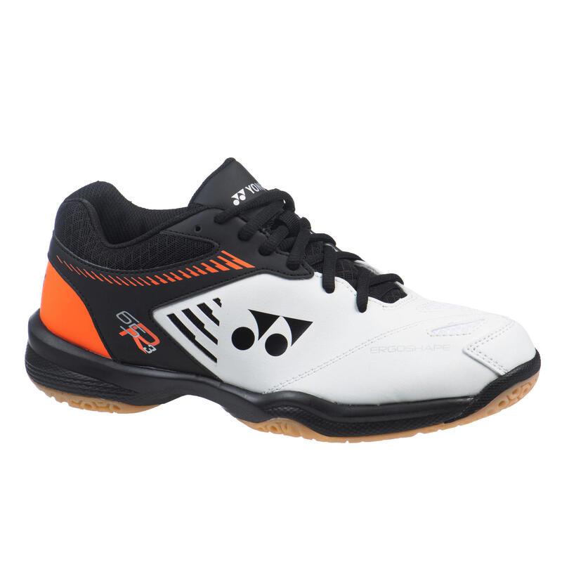 Badmintonschoenen voor heren PC 65 R wit/oranje