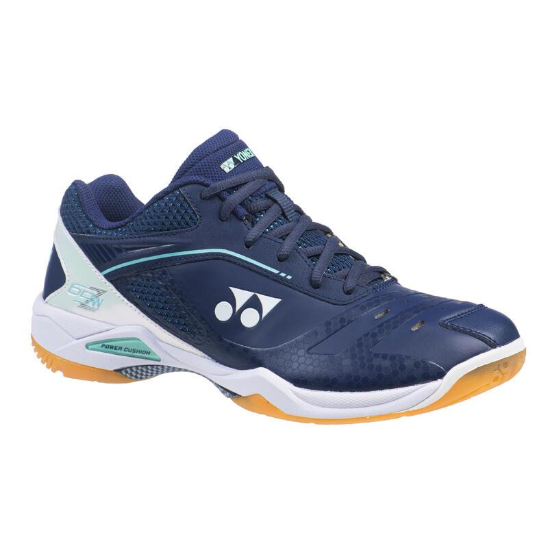 Chaussures de BADMINTON HOMME PC-65Z WIDE Marine/Blanc