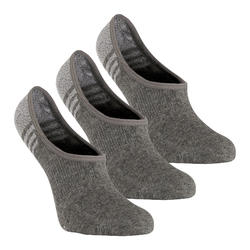 Sokken voor sportief wandelen/nordic walking WS 100 Invisible lichtgrijs 3 paar